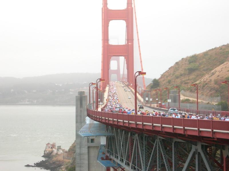 San Francisco Marathon, crossing the Golden Gate Bridge