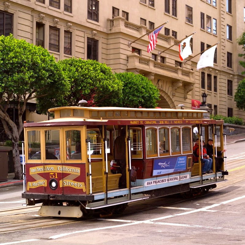 Trolley on streets of San Francisco