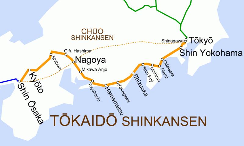 Tokaido_Shinkansen_map