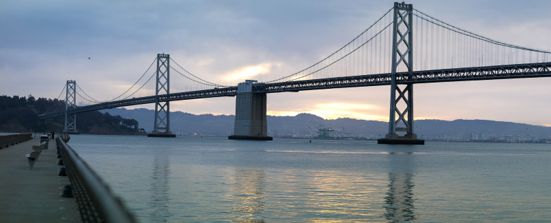 San Francisco Bay Bridge Morning View