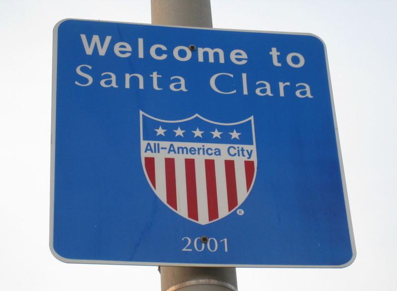 Santa Clara Sign Post