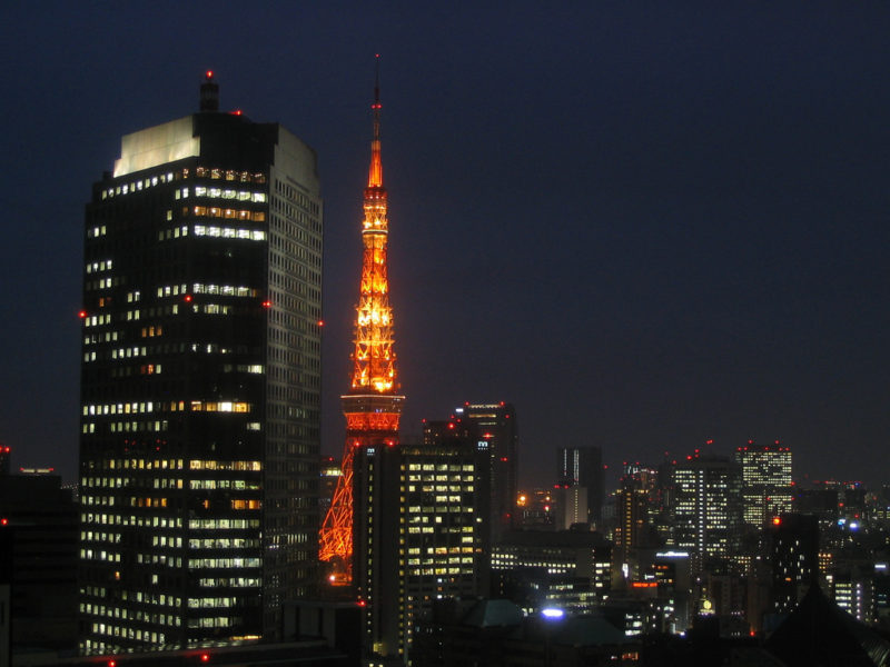 view from my window including the tokyo tower