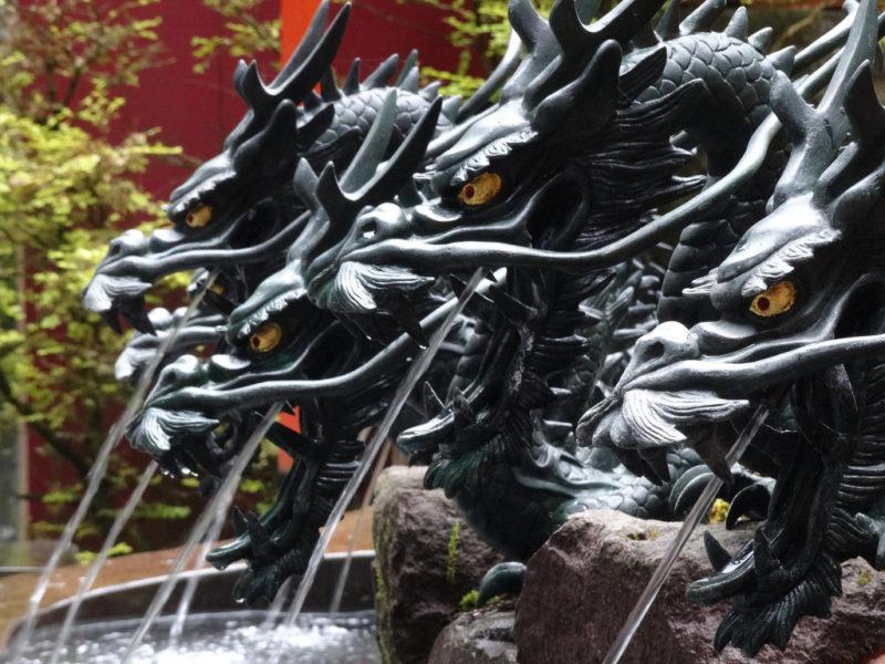 Dragon water basin